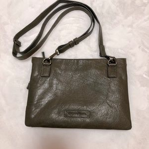 Lucky Brand Olive Leather Crossbody Bag